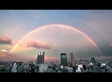 大阪上空に二重の虹 2011-7-12