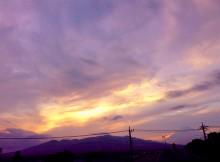 Sunset Mt.Fuji 夕焼けと富士山 7/12/2014